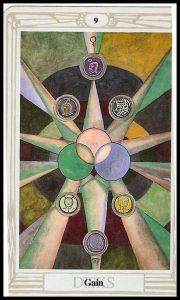 nine of pentacles thoth